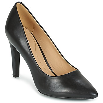 Schuhe Damen Pumps Geox D CAROLINE C - NAPPA Schwarz