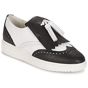 Schuhe Damen Slipper Geox D THYMAR C - NAPPA Weiss / Schwarz