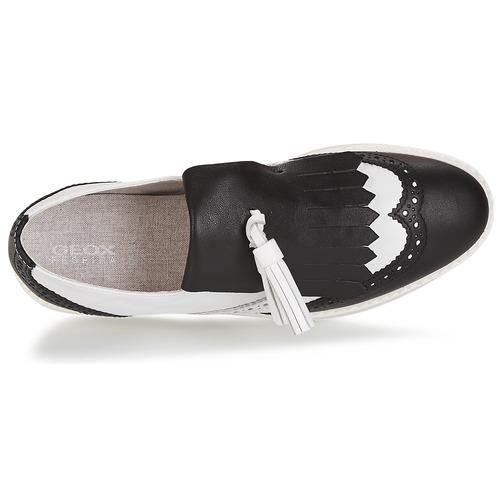 Geox D THYMAR C - NAPPA Weiss / Schwarz Schwarz /  Schuhe Slipper Damen 100 4d71b0