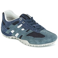 Schuhe Damen Sneaker Low Geox U SNAKE K - SCAM.+MESH Blau