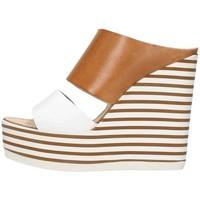 Schuhe Damen Sandalen / Sandaletten Zoe Mic100/02 Leder / Weiß