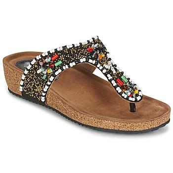 Schuhe Damen Sandalen / Sandaletten Metamorf'Ose ZABUSTE Schwarz / Multifarben