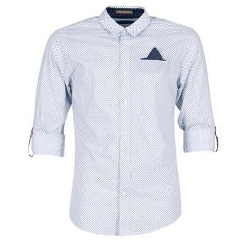 Kleidung Herren Langärmelige Hemden Scotch & Soda DARLU Weiss / Blau