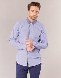 Kleidung Herren Langärmelige Hemden Scotch & Soda JILLA Blau