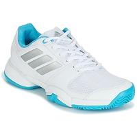 Schuhe Laufschuhe adidas Performance Barricade Club xJ Weiss / Blau