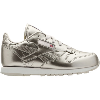 Schuhe Kinder Sneaker Low Reebok Classic Classic Leather Metallic Silber / Weiß