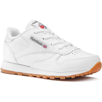 Schuhe Kinder Sneaker Low Reebok Classic Classic Leather - Infant Weiß / Braun