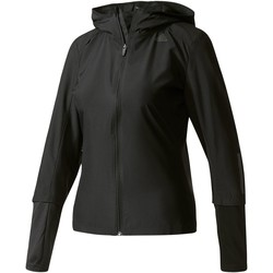 Kleidung Damen Fleecepullover adidas Performance Response Hooded Windjacke Schwarz