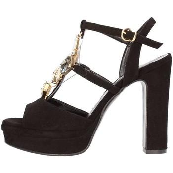 Schuhe Damen Sandalen / Sandaletten Silvana 783s Juwel Sandale Frau schwarz schwarz
