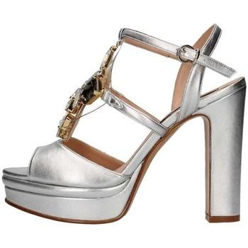 Schuhe Damen Sandalen / Sandaletten Silvana 783s Jewelel sandal Frau Silber Silber