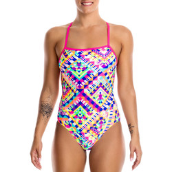 Kleidung Damen Badeanzug Funkita Cross Back One Piece Multicolor