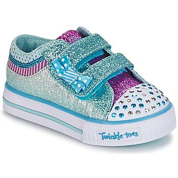 Schuhe Mädchen Sneaker Low Skechers Shuffles Weiss / Blau