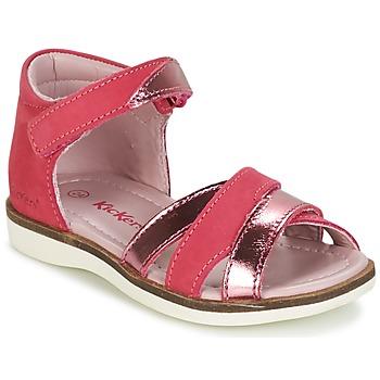 Schuhe Mädchen Sandalen / Sandaletten Kickers GIGI Fuchsienrot / Rose / Mettalfarben