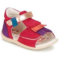Schuhe Mädchen Sandalen / Sandaletten Kickers BIHILANA Fuchsienrot / Orange / Violett