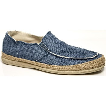 Schuhe Herren Slipper Foot Shoes SLIP-ON SEIL PERRO TINTO ART.1706 INDIGO BLUE BLU