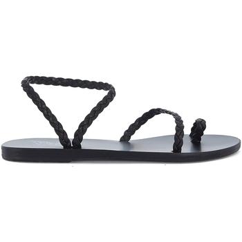 Schuhe Damen Sandalen / Sandaletten Ancient Greek Sandals Sandale Eleftheria aus Leder geflochten Schwarz