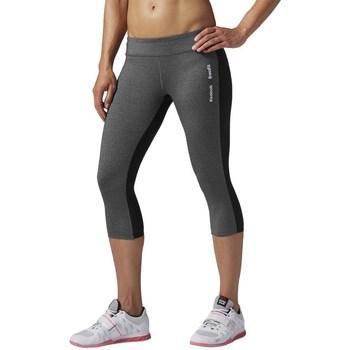 Kleidung Damen Leggings Reebok Sport Rcf Chase Capri Graphit