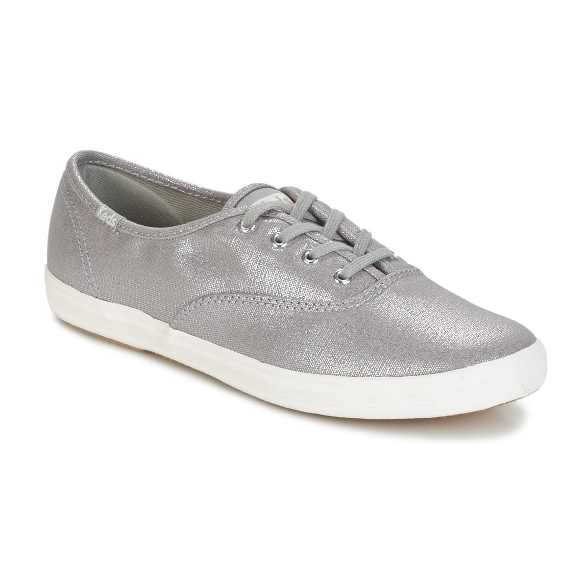 Keds CH METALLIC CANVAS Silber - Kostenloser Versand bei Spartoode ! - Schuhe Sneaker Low Damen 45,49 €