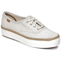 Schuhe Damen Sneaker Low Keds TRIPLE DALMATA DOT LEATHER Creme