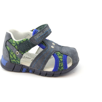 Schuhe Kinder Sandalen / Sandaletten Grunland GRÜNLAND ORAN PP0179 blau geschlossen Zehesandelholze Babyschuhe Blu