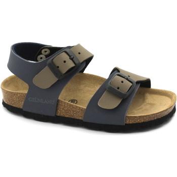 Schuhe Kinder Sandalen / Sandaletten Grunland GRÜNLAND LIGHT SB0901 32/34 blau / taupe Baby Sandalen Birk Schn Multicolore