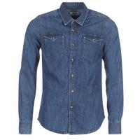 Kleidung Herren Langärmelige Hemden Yurban HERZI Blau
