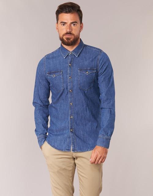 Kleidung Herren Langärmelige Hemden Casual Attitude IHERZI Blau