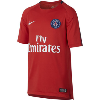 Kleidung Jungen T-Shirts Nike PSG Breathe Squad Youth Rot