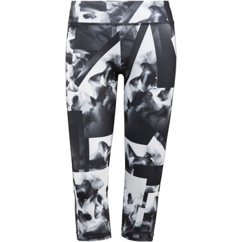 Kleidung Damen Leggings Reebok Sport Workout Ready Smoke Print Capri Weiß