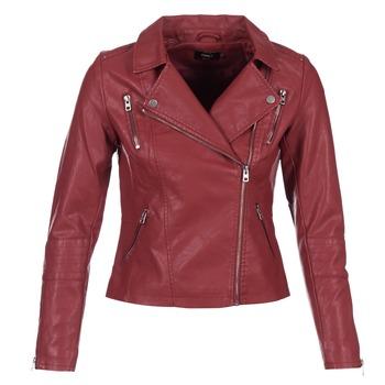 Kleidung Damen Lederjacken / Kunstlederjacken Only MADDY Rot