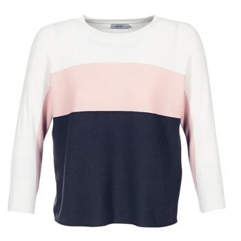 Kleidung Damen Pullover Only REGITZE Weiss / Rose / Marine