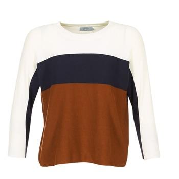 Kleidung Damen Pullover Only REGITZE Weiss / Marine / Braun