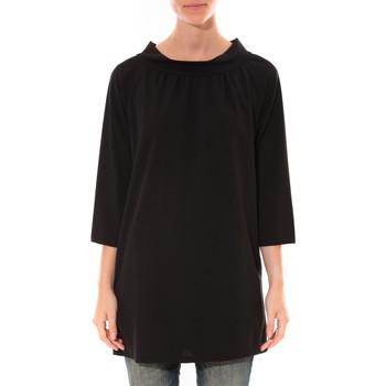 Kleidung Damen Tuniken Barcelona Moda Robe Margarita Noir Schwarz