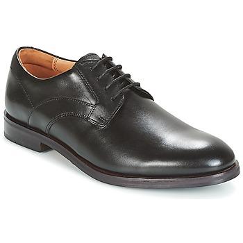 Schuhe Herren Derby-Schuhe Clarks Black Leather Schwarz