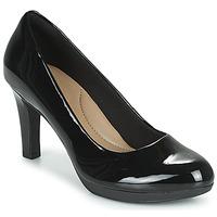 Schuhe Damen Pumps Clarks ADRIEL VIOLA Schwarz / Sehr dunkles grün