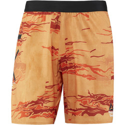 Kleidung Herren Shorts / Bermudas Reebok Sport CrossFit Speed Board Shorts - Camo Print Orange / Grün