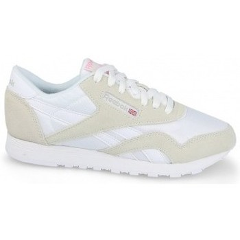 Schuhe Damen Sneaker Low Reebok Sport Classic Nylon Weiß