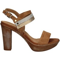 Schuhe Damen Sandalen / Sandaletten Igi&co 7856 High heeled sandals Frauen Brown Brown
