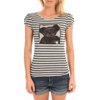 Kleidung Damen T-Shirts LuluCastagnette T-Shirt Liss Rayure Gris Grau