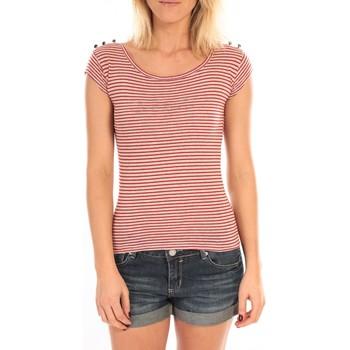 Kleidung Damen T-Shirts LuluCastagnette T-Shirt Jeny Rayé Rouge Rot