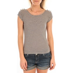 Kleidung Damen T-Shirts LuluCastagnette T-Shirt Jeny Rayé Bleu Blau