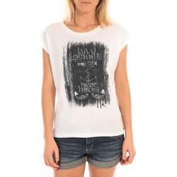 Kleidung Damen Tops / Blusen LuluCastagnette Top Luna Print Blanc Weiss