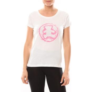 Kleidung Damen T-Shirts LuluCastagnette T-shirt Happy Blanc Weiss