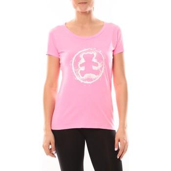 Kleidung Damen T-Shirts LuluCastagnette T-shirt Happy Rose Rose