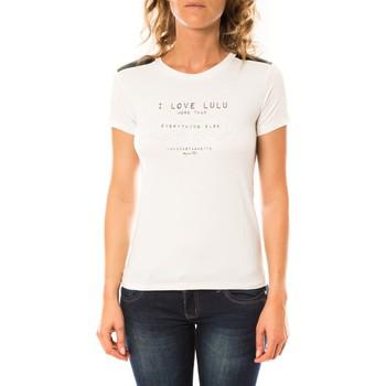 Kleidung Damen T-Shirts LuluCastagnette T-shirt Funk Blanc Weiss