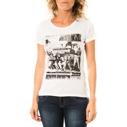 Kleidung Damen T-Shirts LuluCastagnette T-shirt Mag Blanc Weiss