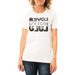 Kleidung Damen T-Shirts LuluCastagnette T-shirt Sequy Blanc Weiss