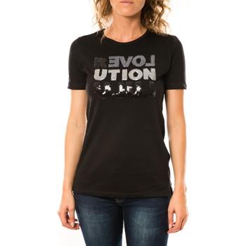 Kleidung Damen T-Shirts LuluCastagnette T-shirt Sequy Noir Schwarz