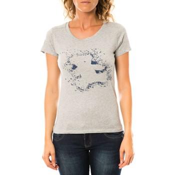 Kleidung Damen T-Shirts LuluCastagnette T-shirt Troupe Gris Grau