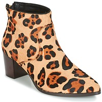 Schuhe Damen Low Boots Bocage MELODY Leopard